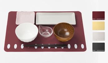 Chopstick rest placement luncheon mat